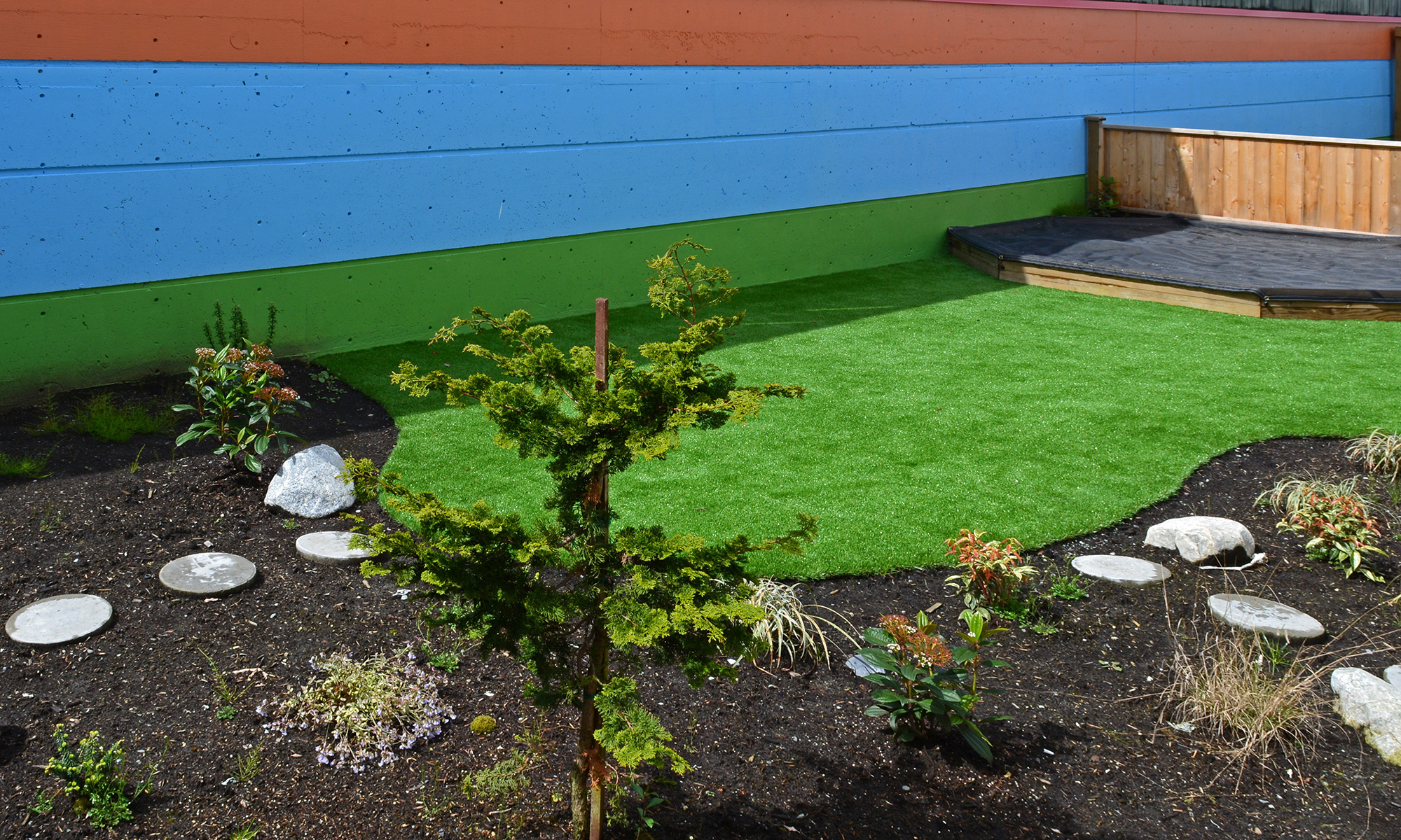 Turf lawn for a childcare facility